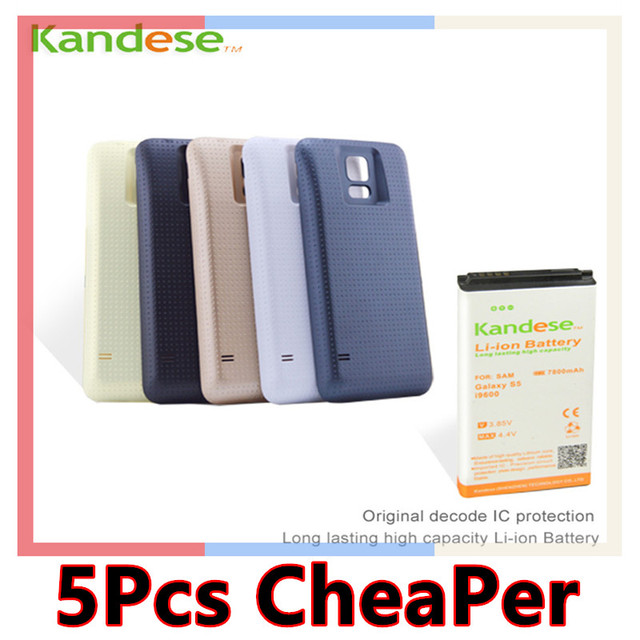 1 pcs/lot Brand kandese High capacity 7800mAh for Samsung Galaxy S5/i9600,rechargeable Battery celular charger,Thicker battery