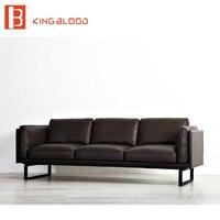 Современный Дубай Стиль Коричневый наппа лобби диван дизайн мебели