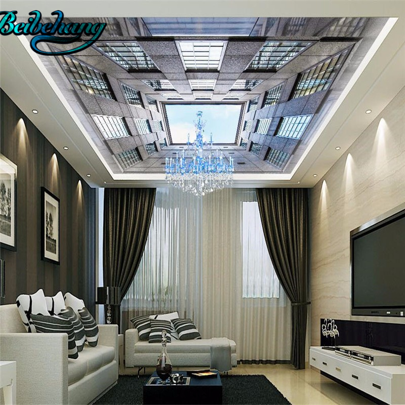Beibehang 3dウォールボード壁画建物天井の背景現代muralリビングルーム寝室の装飾