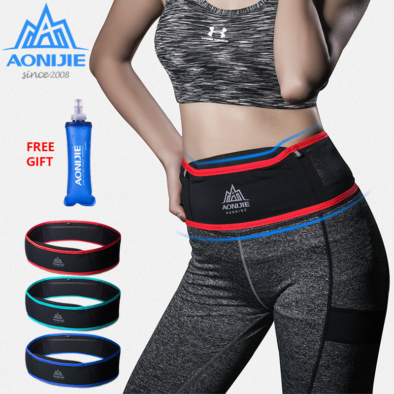 AONIJIE W938 Slim Running Waist Belt Jogging Bag Fanny Pack Travel Money Marathon Gym Workout Fitness 6.9 in Mobile Phone Holder belt