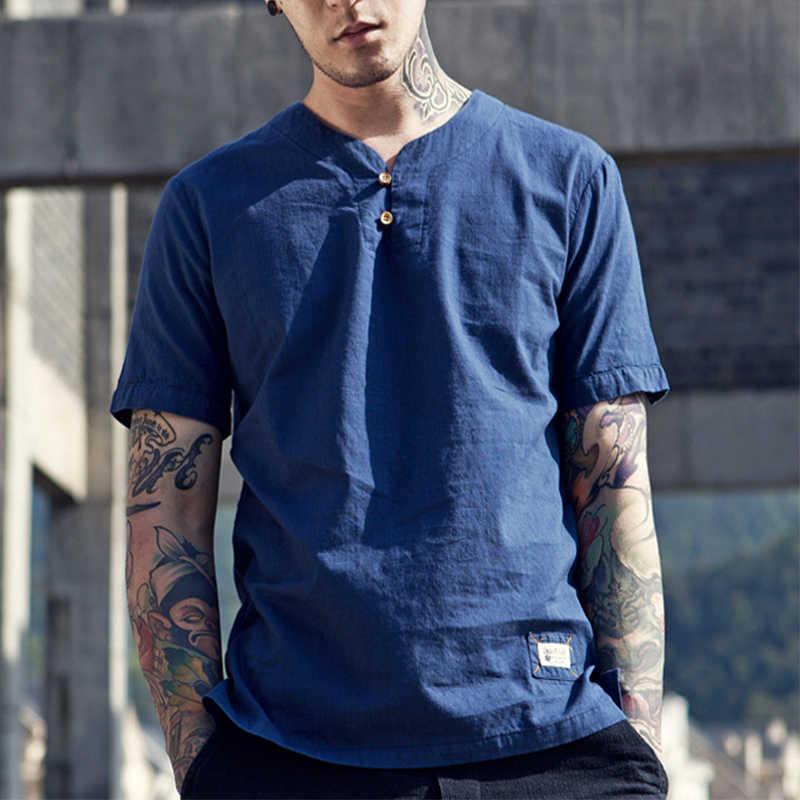 Iemuh真新しいハイキングランニングtシャツ男性速乾性スポーツ通気性v襟服ソリッド半袖ハイキングtシャツ