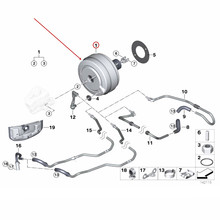 Автомобильный тормозной вакуумный насос тормозной барабан подходит для 1 серии 3 серии 120 130 E90 318 320 325b mw2004-2012 усилитель тормозов вакуумный насос