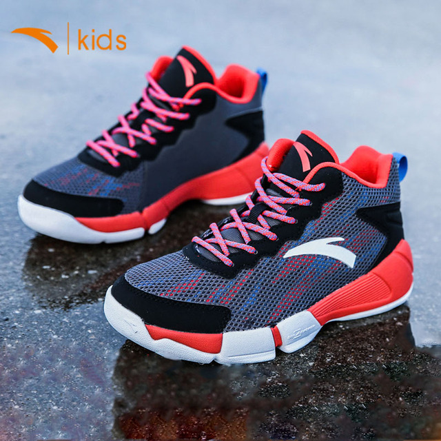 Anta Basketball Shoes For Boys Sports Shoes High Youth Basketball