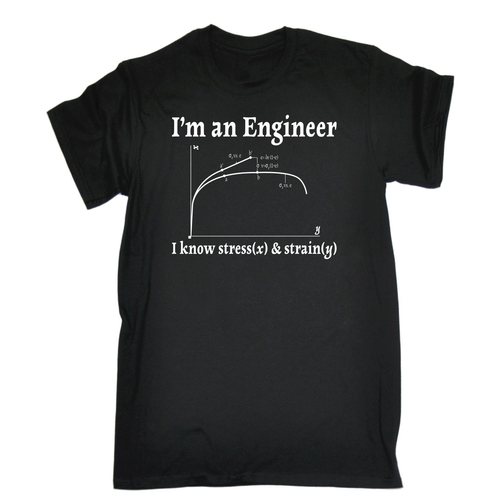 2019 Fashion Hot Sale Mens Im An Engineer I Know Stress Funny Joke Job Work T-SHIRT Birthday Tee Shirt