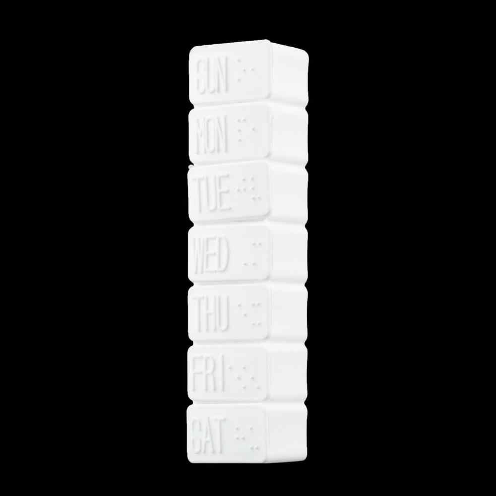 1 قطعة أو 2 قطعة أسبوع واحد 7 أيام حبة الدواء الصغيرة حامل الصندوق المخدرات أسبوعي قرص صغير صندوق منع الحمل حاوية التخزين المنظم