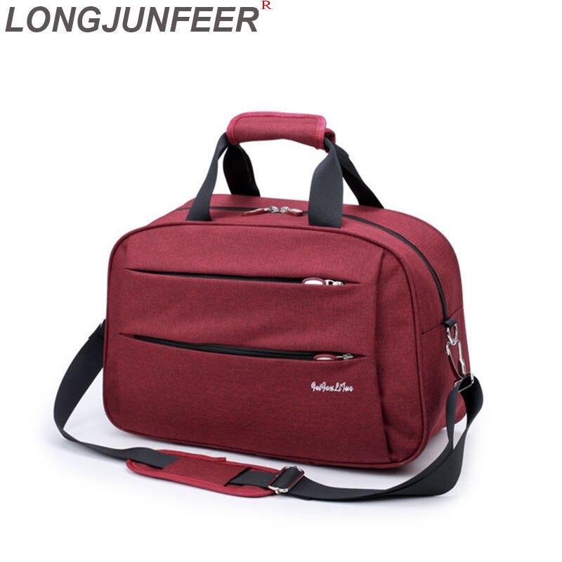 Luggage Travel Bags Waterproof Canvas Men Women Big Bag On Wheels Man Shoulder Duffel Bag Black Blue Carry On Cabin Luggage ZL32