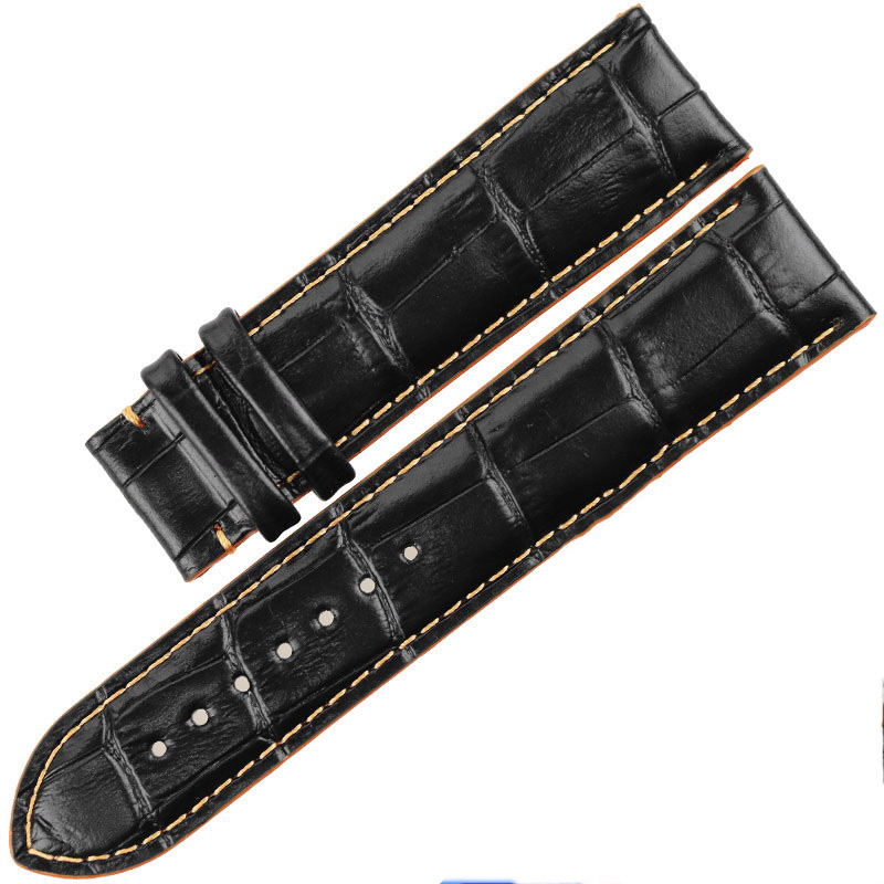 ISUNZUN Watch Straps For Mido M005430A M005 Genuine leather Watch Band Nato Leather Strap Watches AccessoriesWatchbands in Watchbands from Watches