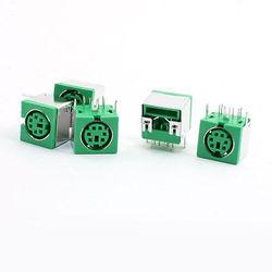 5 sztuk PS/2 6 P Mini DIN Wtyk Żeński Złącze PCB Klawiatury Myszy Zielony