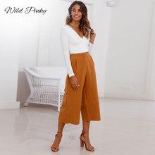 WildPinky Spring Lady Wide Leg Pants Women Summer High Waist Trousers Chic Stree