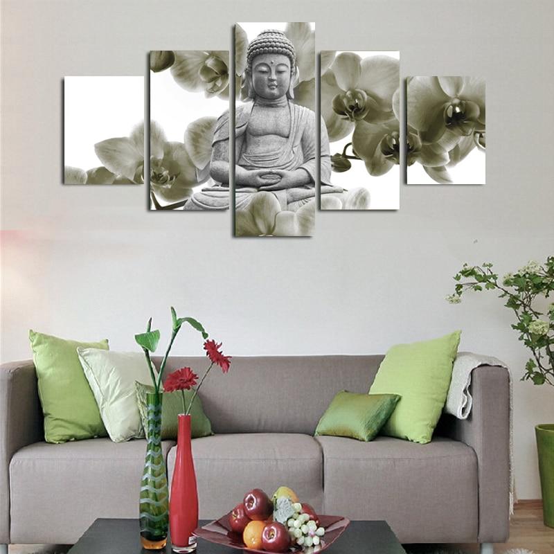 ộ_ộ ༽5 Pezzo Tela Arte Buddha Pittura Stampe Su Tela Pittura Per ...