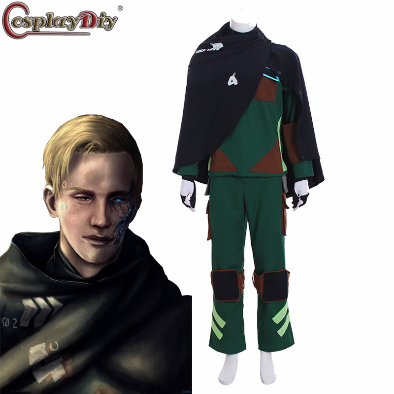CosplayDiy Detroit: Become Human Cosplay Ralph WR600 Agent Suit Uniform Men Halloween Full Set Outfit Costume Fancy Dress