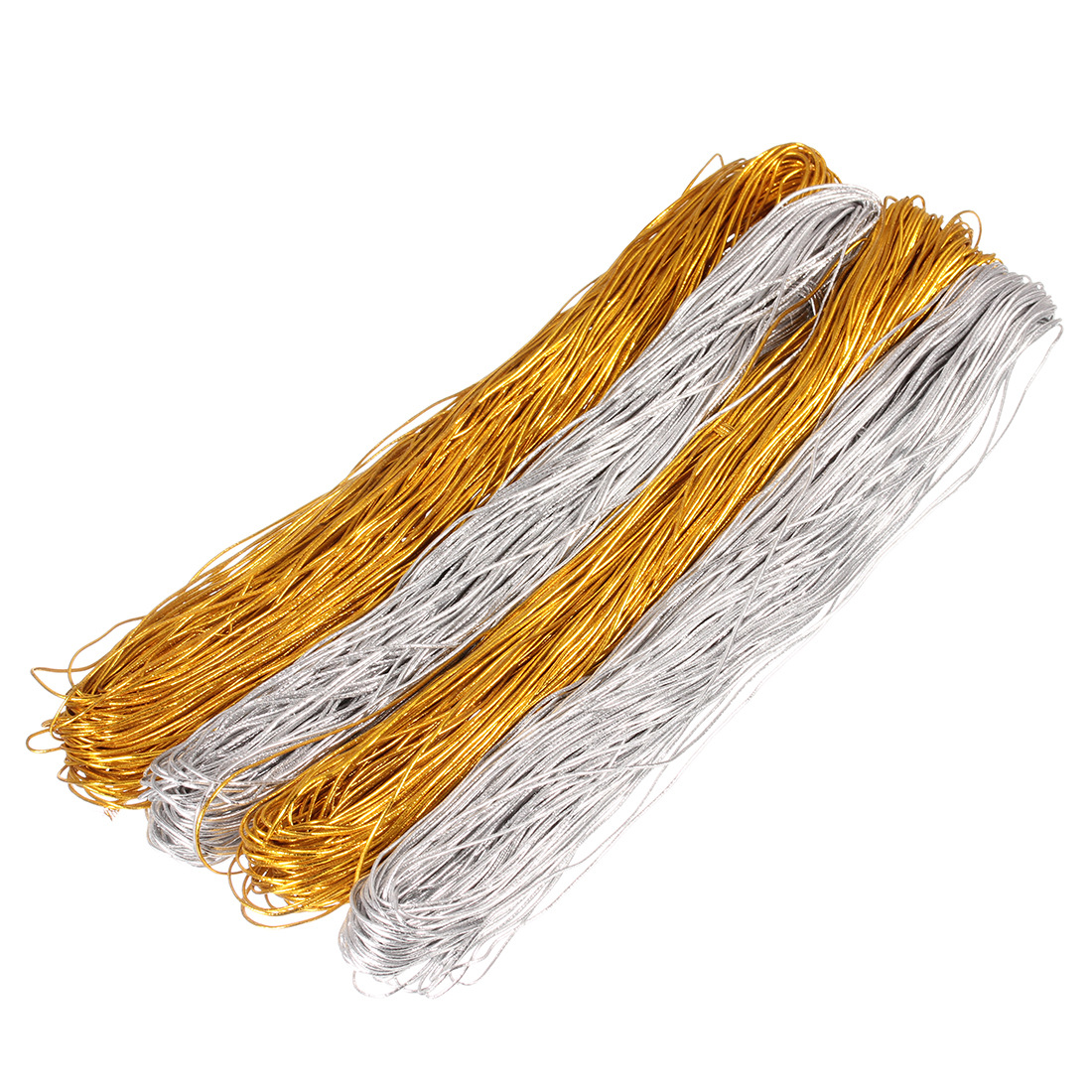 1 Mm Gold Silver Thread Elastic Rope For Jewelry Tag Elastic Line Elastic Rope Core Rope 2 Colors Length 50 M