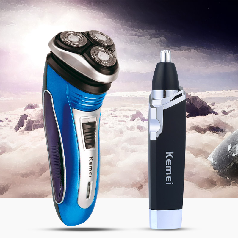 Professional Electric Shaver Men 3D Floating Head Rechargeable Razor Shaving Nose Trimmer Beard Clipper Hair Removal Machine w519 multifunctional waterproof men rechargeable electric shaver razor blade shaving hair nose sideburn trimmer