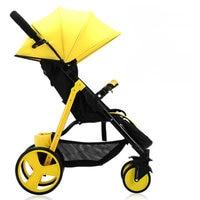 Lightweight 5.9KG Baby Stroller, Urltra Light Baby Pram with Super Shock Absorption, steel frame Baby Carriage with EVA wheel