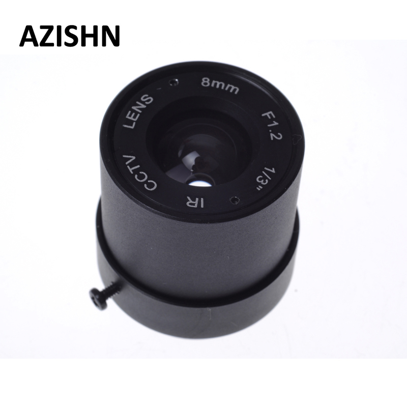 CCTV camera CS lens 1/3 F1.2 CCTV Fixed Iris IR Infrared 8mm CS Mount Lens For Security CCTV Camera 4mm iris fixe montage cs ir cctv camera de securite lentilles f1 aperture