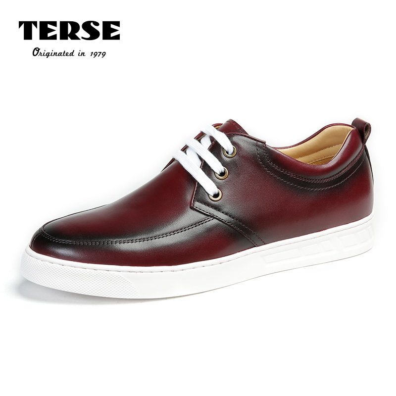 TERSE_Handmade Genuine Leather Shoes Men In Burgundy Color Upscale Shoes Custome Service Lace-Up  Moccasins Footwear Male 003-1 burgundy met 1 2 in x150