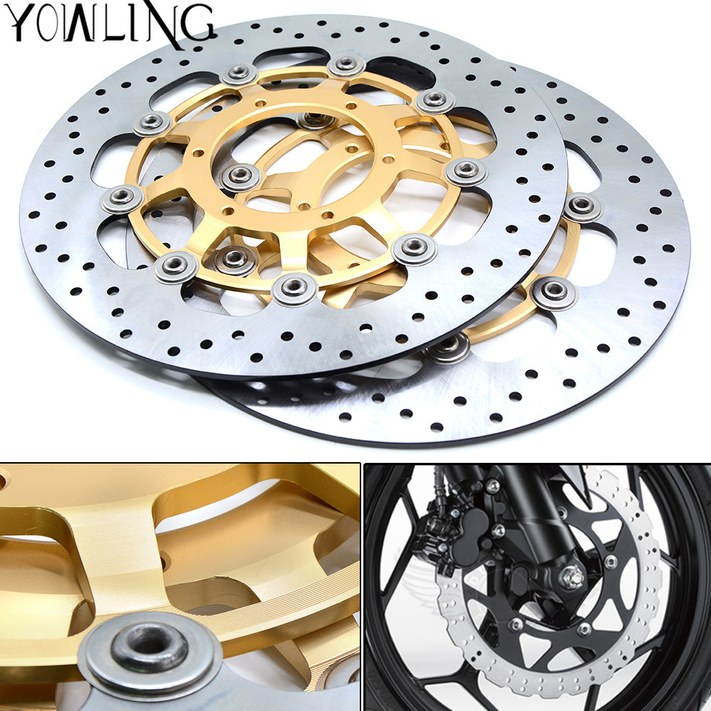 One Pair CNC High quality Motorcycle Front Floating Brake Disc Rotor For Honda CB1300 CB 1300 2003 2004 2005 2006 2007 2008 2009 one pair cnc high quality motorcycle front floating brake disc rotor for suzuki gsf1250 bandit abs non 2007 2008 2009 gsf1200 k6