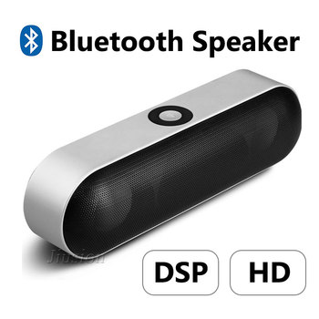 NBY-18 Mini Bluetooth Speaker Wireless Portable HIFI 3D Stereo Bass Music Dual Loudspeaker Boombox Mic TF AUX USB BT Speakers