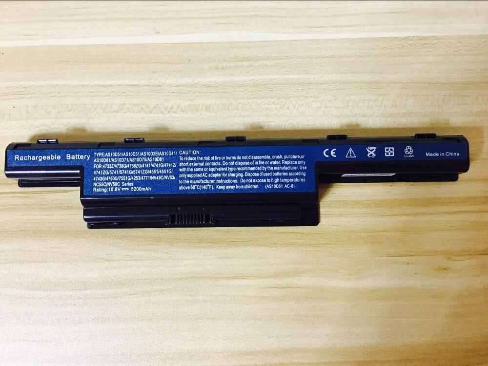 new laptop battery for Acer Aspire 4741 E1-732 E1-771 E1-772 V3-431 V3-471 V3-531 V3-571 V3-551 V3-731 jigu 7750g new laptop battery for acer aspire v3 v3 471g v3 551g v3 571g v3 771g e1 e1 421 e1 431 e1 471 e1 531 e1 571 series