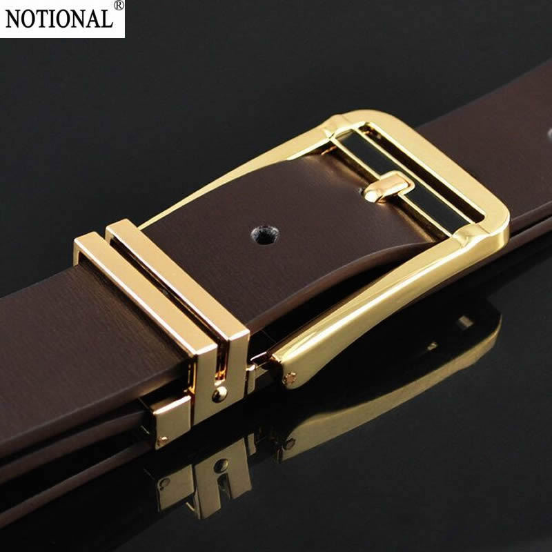 2017 men   belt   cow genuine leather luxury strap male   belts   for men new fashion classice vintage pin buckle NX4001