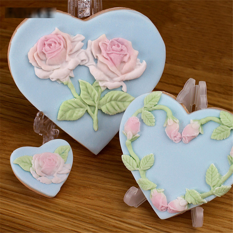 Patisserie Baking Molds Fondant Baking Tools For Cakes Cake Decorating Tools Rose Flower Silicone Molde in Baking Pastry Tools from Home Garden