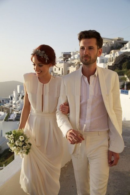 Ivory Linen Beach Wedding Suits,Tailored Groom Suit Men Off White ...