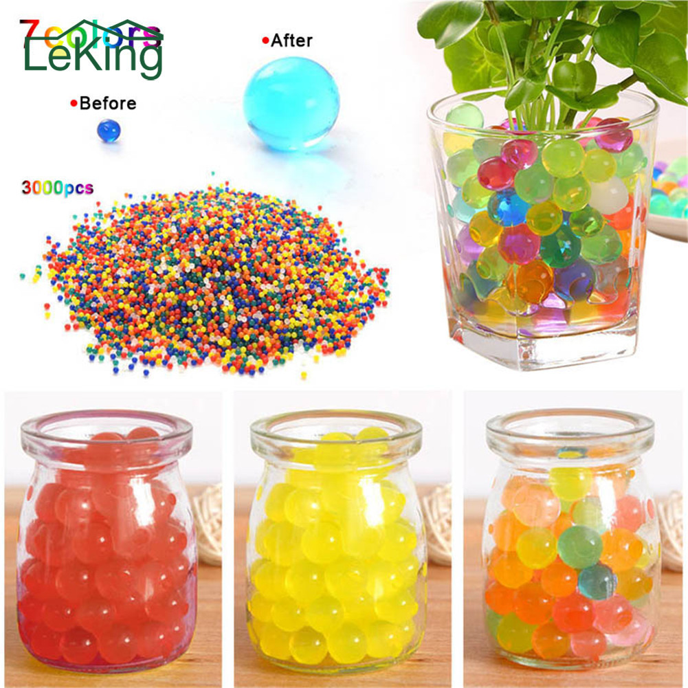 3000pcs Colored Soft Crystal Soil Water Paintball Gun Bullet Grow Water Beads Grow Balls For Home Garden Outdoor Decoration3000pcs Colored Soft Crystal Soil Water Paintball Gun Bullet Grow Water Beads Grow Balls For Home Garden Outdoor Decoration