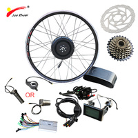 JS 36V 500W LCD/LED Electric Bike Kit Front Motor Wheel for Mountain Bike 26 700C Hub Electric Motor for Bicycle Free Shipping