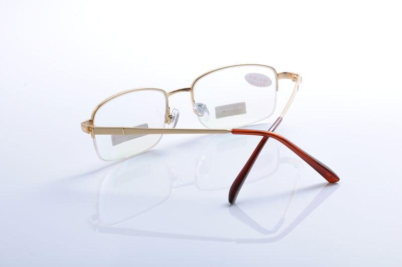 df617009f77 DEDING Metal Rectangular Bifocal Reading Glasses Unisex Semi Rimless Half  Frames bi focal Reading Glasses Gold Frame readers1321-in Reading Glasses  from ...