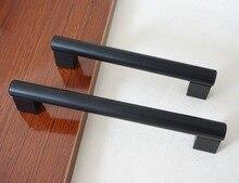 Large Dresser Drawer Pulls Handles Knobs Door Handle Black Kitchen Cabinet Pulls Handles Furniture Hardware 128mm 160mm 192mm