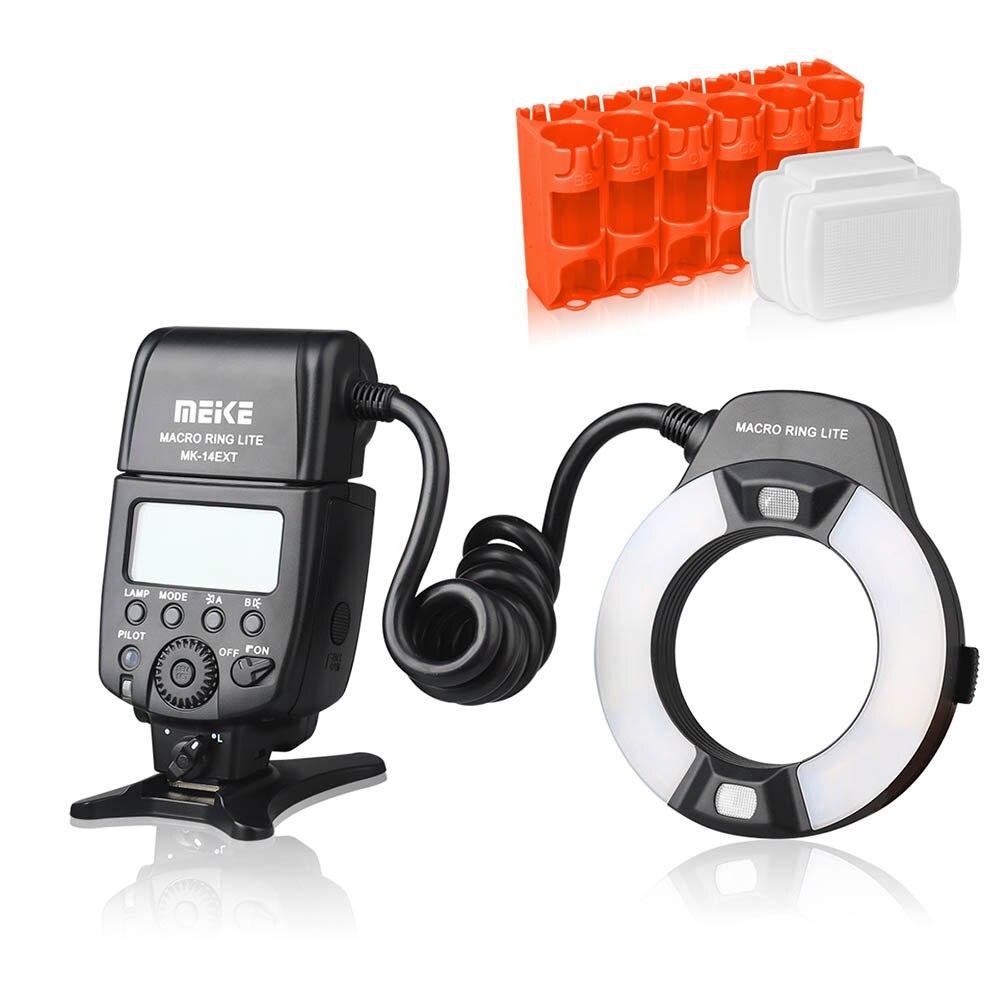 Meike MK-14EXT MK-14EXT-C E-TTL Macro LED Ring Flash Speedlite com LED Lâmpada Auxiliar AF para Canon EOS DSLR Camera