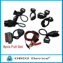 2016 Hot sale 8 pcs Car Cable Full Set for tcs cdp pro plus/MVD/WOW/Kess Auto Diagnostic interface Car cables free ship