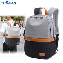 Tuguan Unisex Laptop Backpacks Notebook Backpack Korean Style Women Men School College Student Bags Casual Travel Shoulder