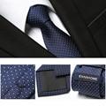 Free Delivery 2016 Fashion Mens Ties For Men Nano-tie 7CM Polka Dot Elegant Navy Blue Neckties Brand Men's Ties Gift BOX