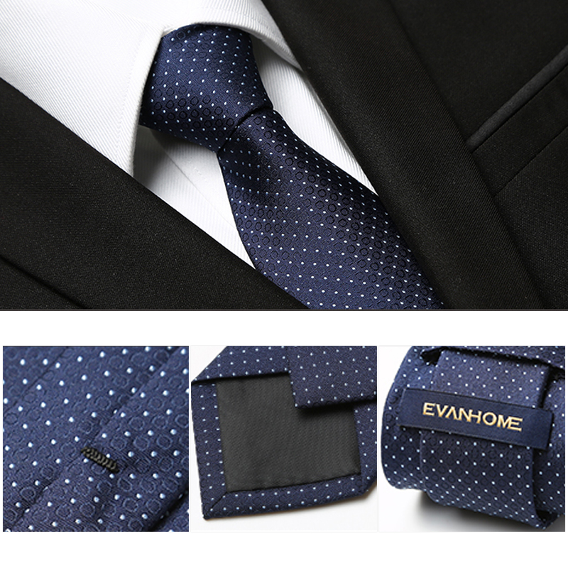 Free Delivery 2018 Fashion Mens Ties For Men Nano-tie 7CM Polka Dot Elegant Navy Blue Neckties Brand Men's Ties Gift BOX