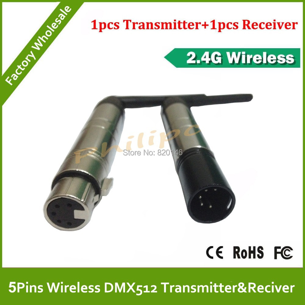 DHL/EMS Free Shipping 5Pins 2.4G DMX512 DJ Wireless Transmitter Lighting Control For Stage & City Light used in good condition 140m c2n a40 with free shipping dhl ems