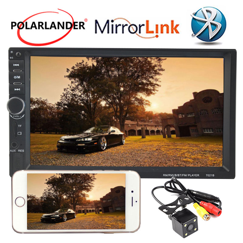 2 Din 7 inch Touch screen car radio bluetooth 10 Languages  support DVR rear view camera audio stereo mp5 player mirror link2 Din 7 inch Touch screen car radio bluetooth 10 Languages  support DVR rear view camera audio stereo mp5 player mirror link