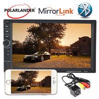 2 Din 7'' inch Touch screen car radio bluetooth 10 Languages support DVR rear view camera audio stereo mp5 player mirror link