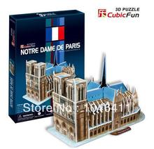 Notre Dame De Paris CubicFun 3D educational puzzle Paper & EPS Model Papercraft Home Adornment for christmas gift