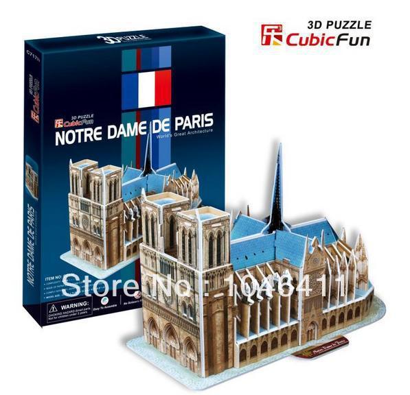 Notre Dame De Paris CubicFun 3D educational puzzle Paper & EPS Model ...