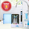 Rechargeable Sonic Electric Toothbrush 6 brush heads UV Sanitizer Adult Waterproof IP7 Tooth brush Oral Care Sets sg-908