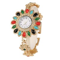 Golden Women S Bracelet Watches Top Brand Luxury Lady Dress Watches Elegant Crystal Jewelry Quartz Wristwatch