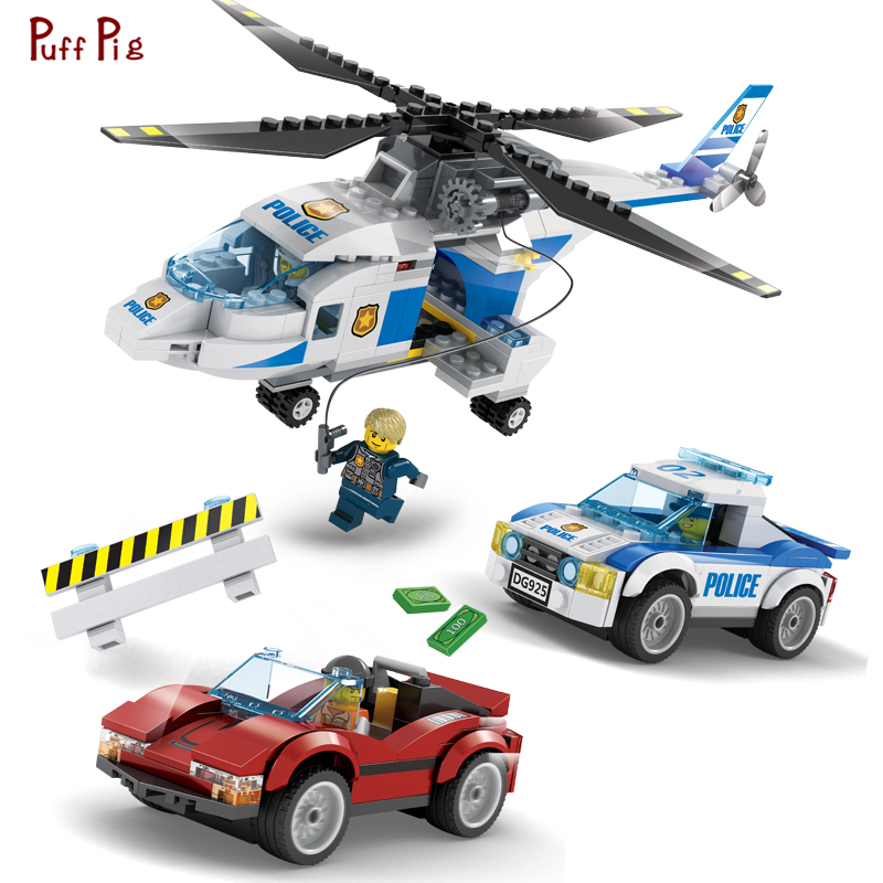 456pcs Police SWAT Team Helicopter Truck Armored Car Building Blocks Compatible Legoed City Brick Educational Toys For Children bohs building blocks city police station coastal guard swat truck motorcycle learning