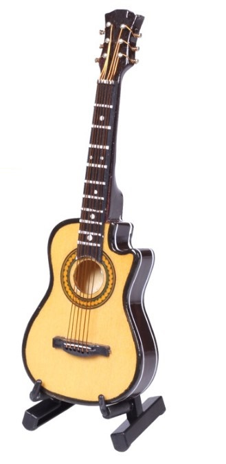 IM 3D Music Instrument Miniature Display Model Guitars and Drum Great - Alat muzik - Foto 2