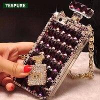 YESPURE Fantezi Kapak Kadınlar için Lüks Parfüm Şişesi Telefon Aksesuarları Iphone 6 6 s Elmas Fundas Calular Çapa Pembe
