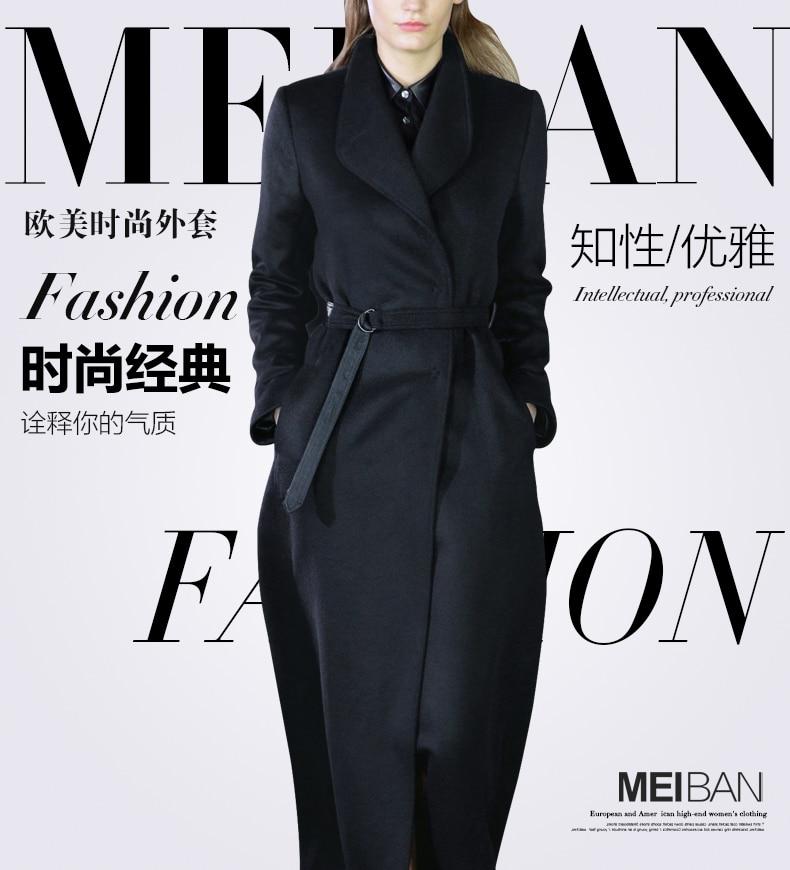 X-long Autumn Coat 2018 Dark Navy Women's Trench Coats
