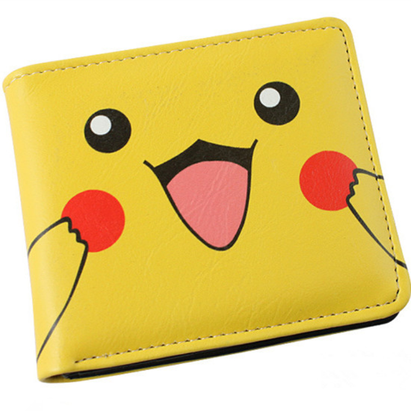 Japanese Anime Purse Pokemon Pikachu Wallet Pouch Portefeuille Homme Woman Wallet and Men Wallets Free Shipping anime cartoon wallets bifold game pokemon go pikachu wallet for teenager women men pocket monster purse coin purses holders