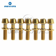 7Pcs Titanium Ti  Allen Hex Taper Bolts Screw with Washers for Ritchey C260 Bicycle Stem