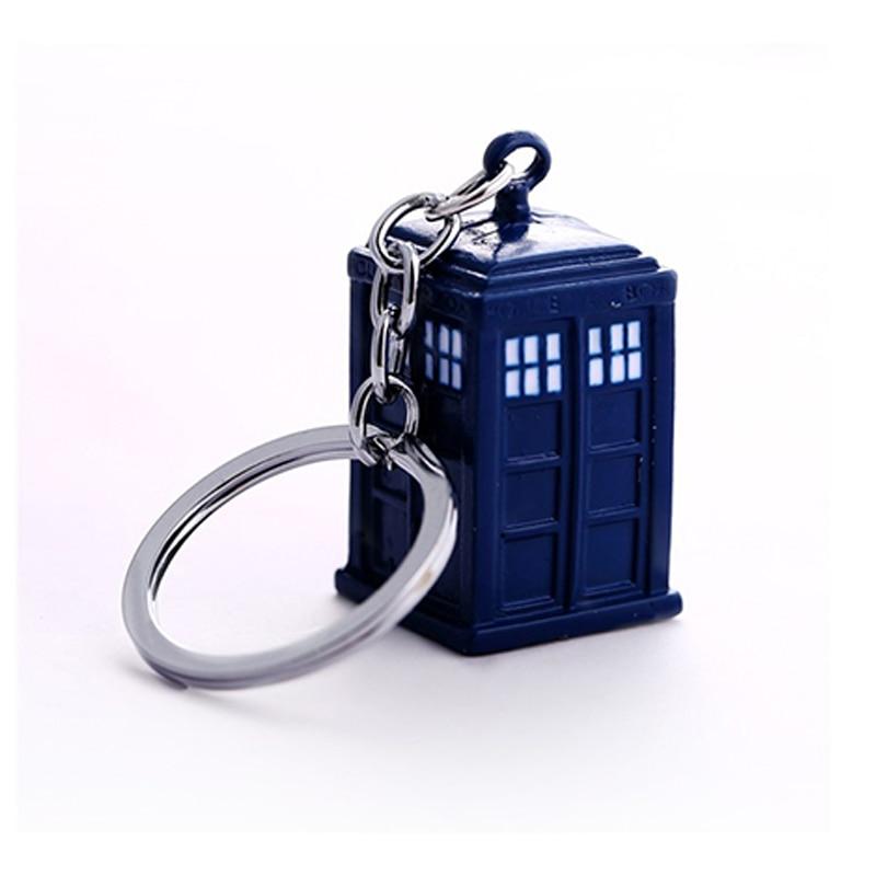 Movie Doctor Who Key Chain TARDIS Key Rings Chaveiro Car Keychain Jewelry Key Holder Souvenir Gift