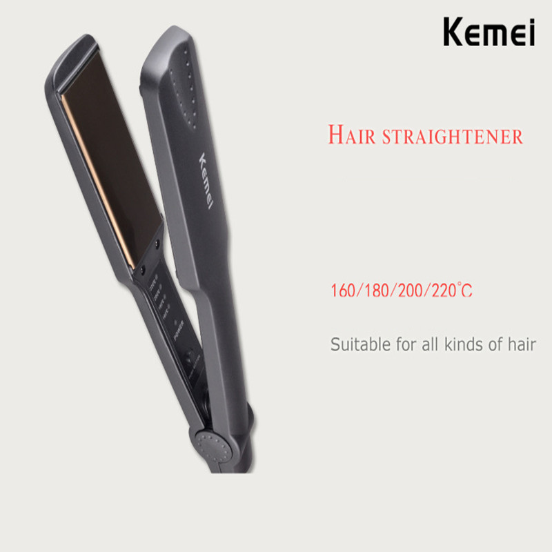 Professional tourmaline ceramic heating plate straight hair styling tool with fast warm up thermal performance